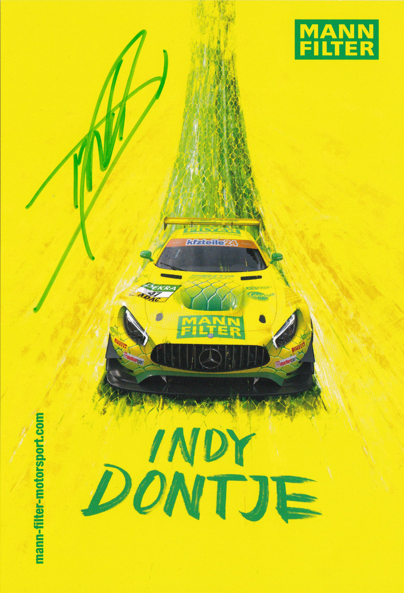 Indy Dontje 2019 ADAC GT Masters Card