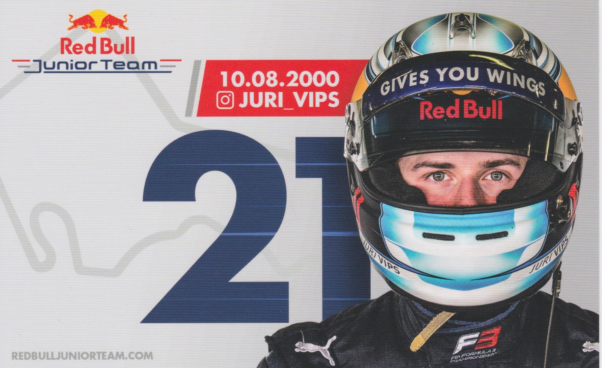 Jüri Vips Red Bull Junior Team 2019