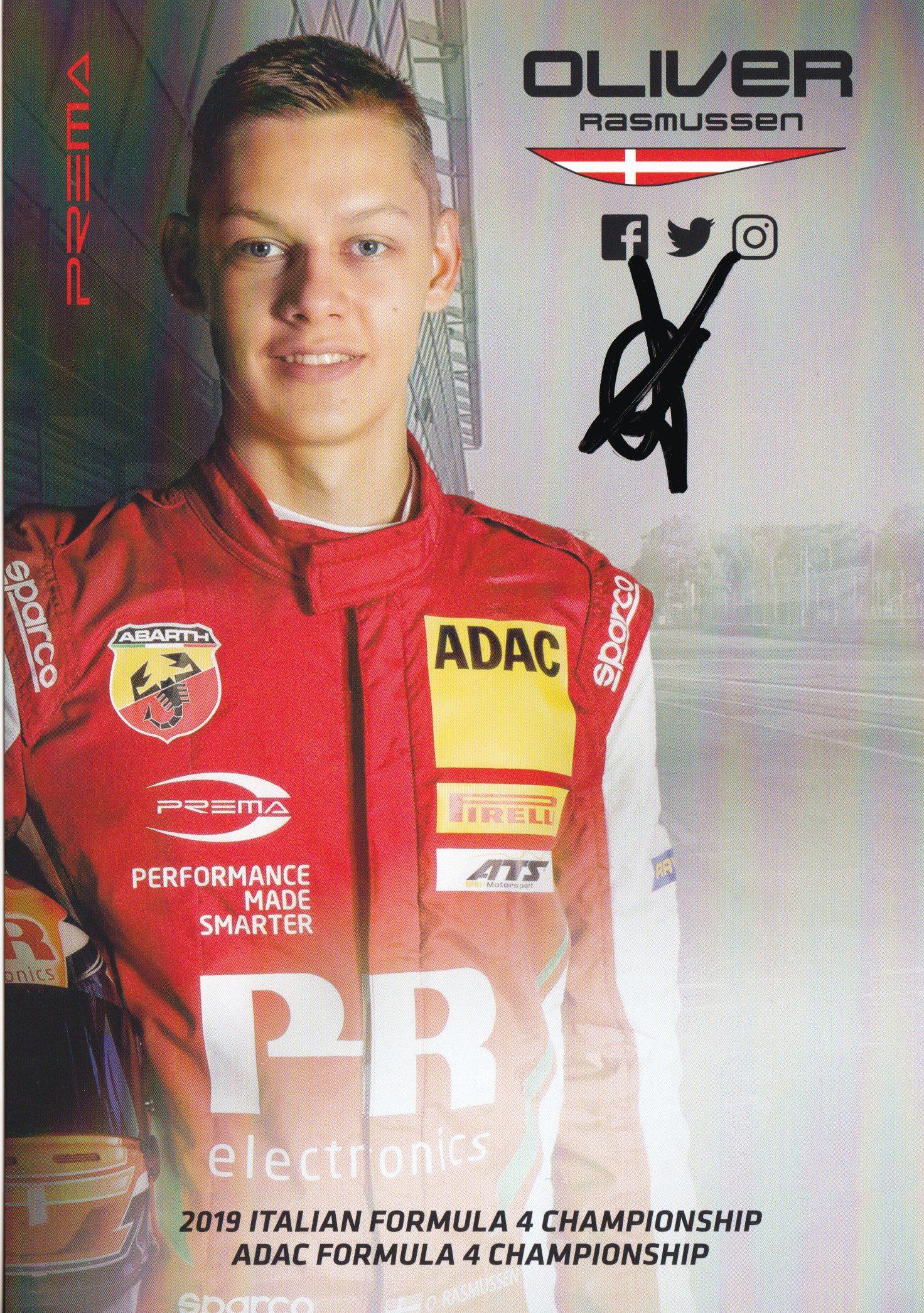Oliver Rasmussen Prema Powerteam 2019