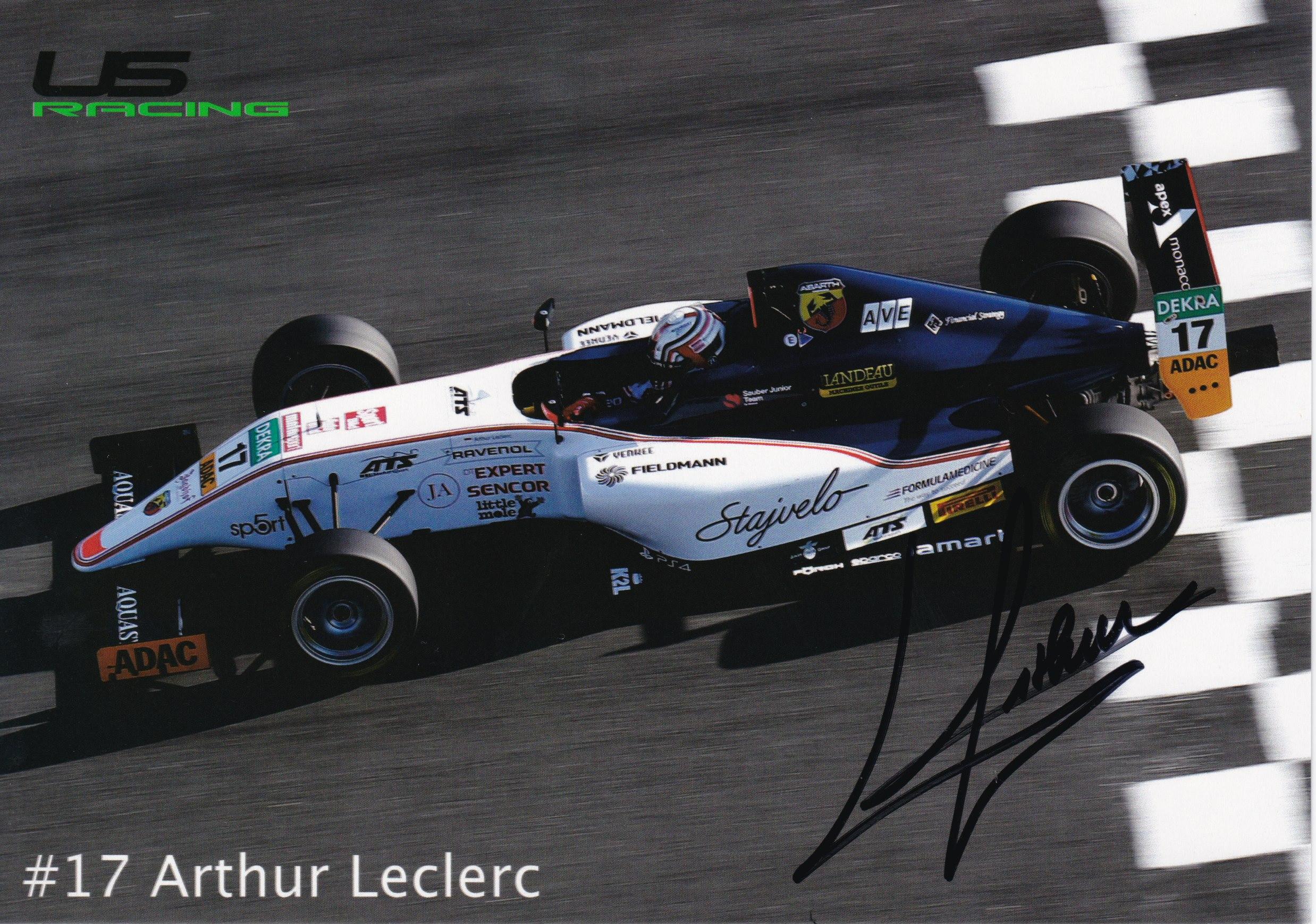 Arthur Leclerc US Racing 2019 Card