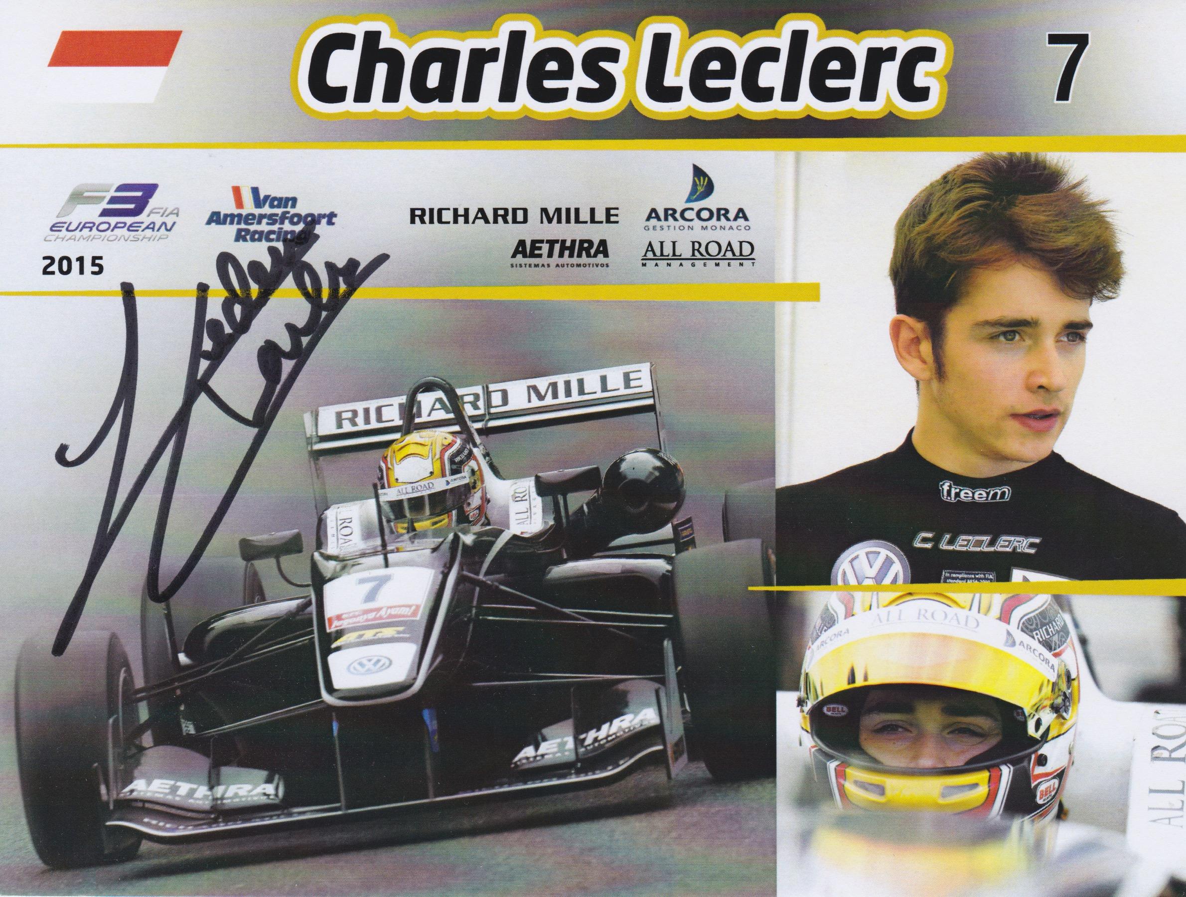 Charles Leclerc VAR 2015 Card