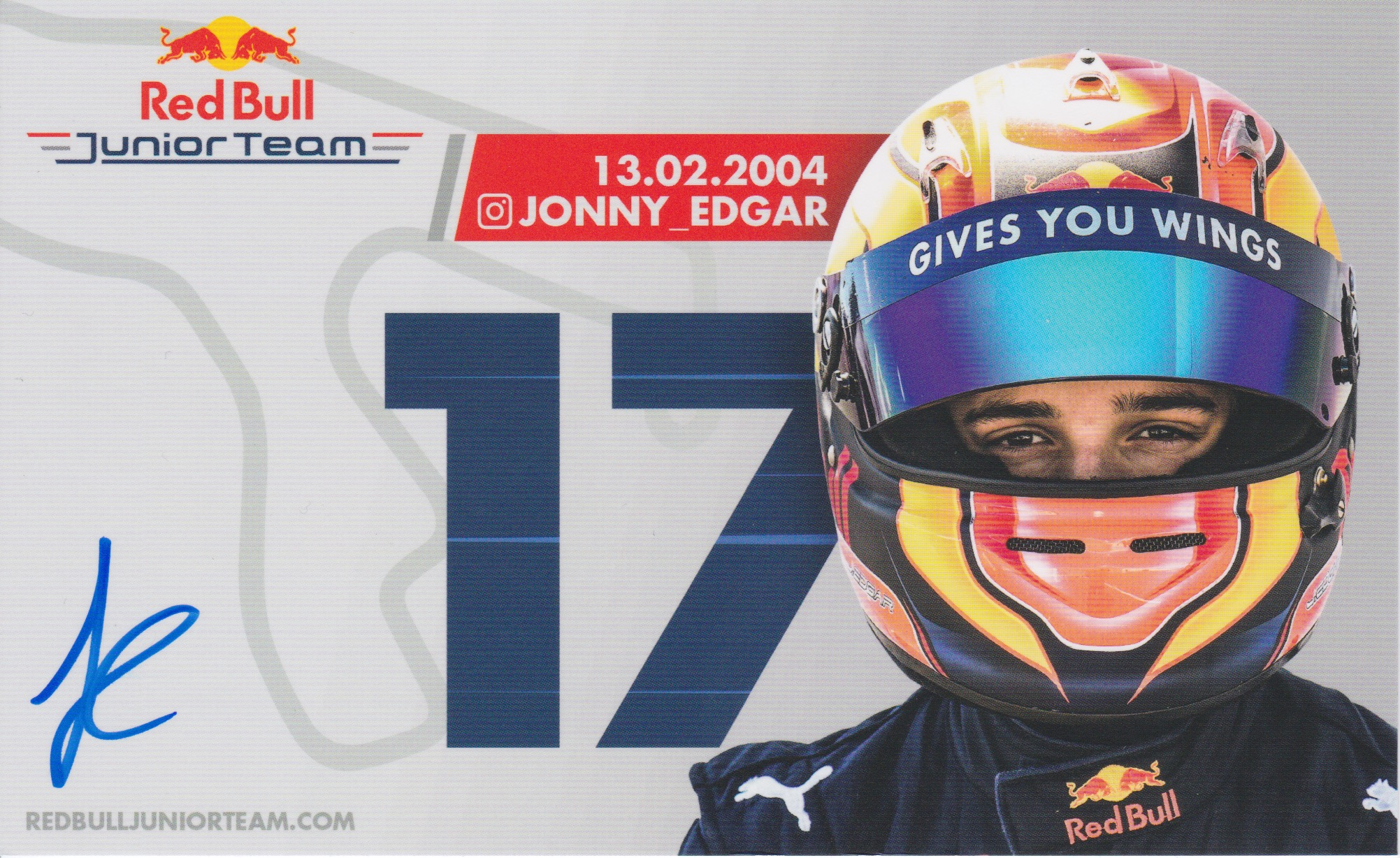 Jonny Edgar Red Bull Junior Team 2019