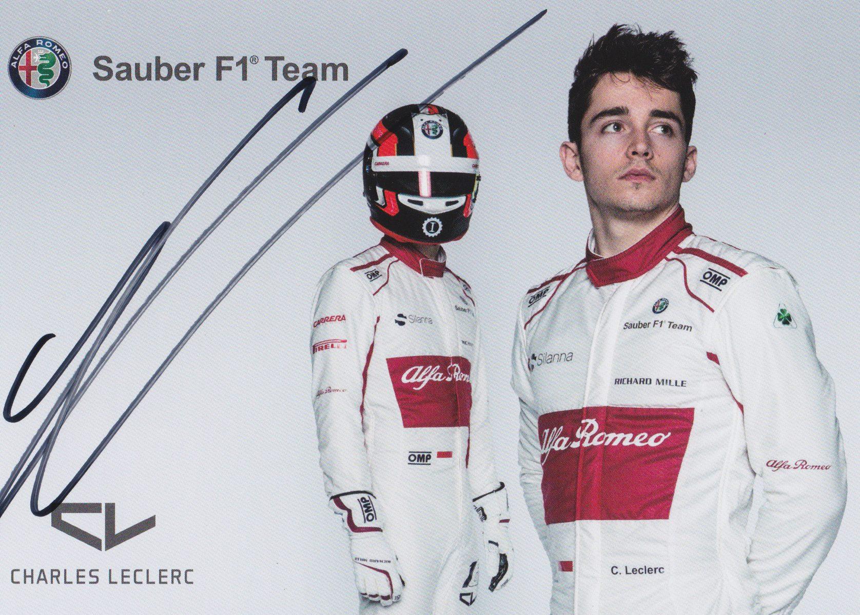 Charles Leclerc Sauber 2018 Card
