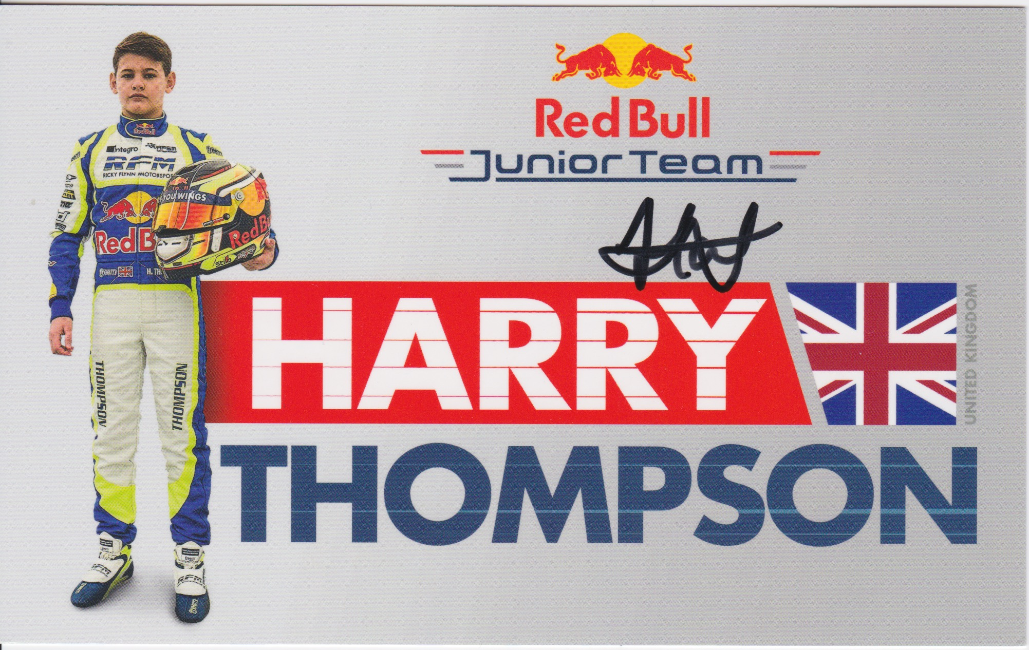 Harry Thompson Red Bull Junior Team 2019
