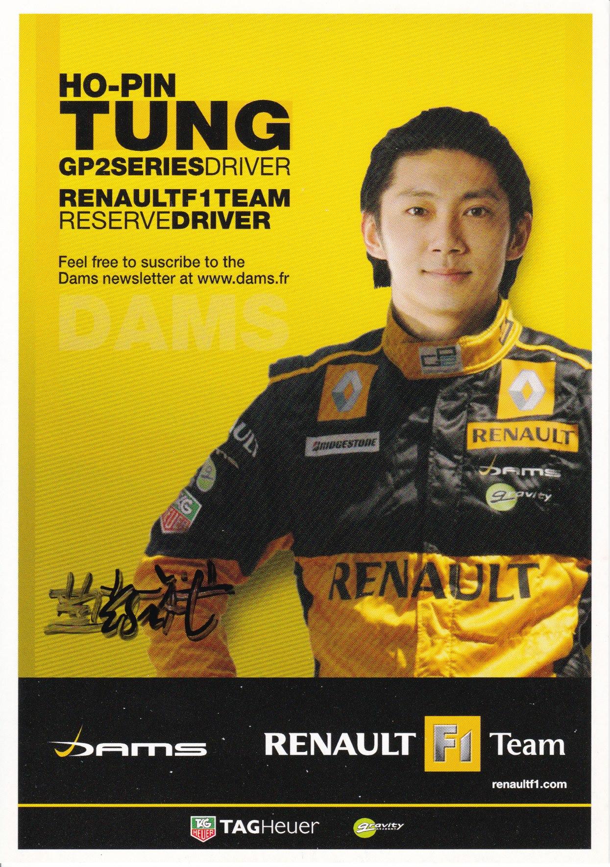 Ho-Pin Tung Renault Kaart