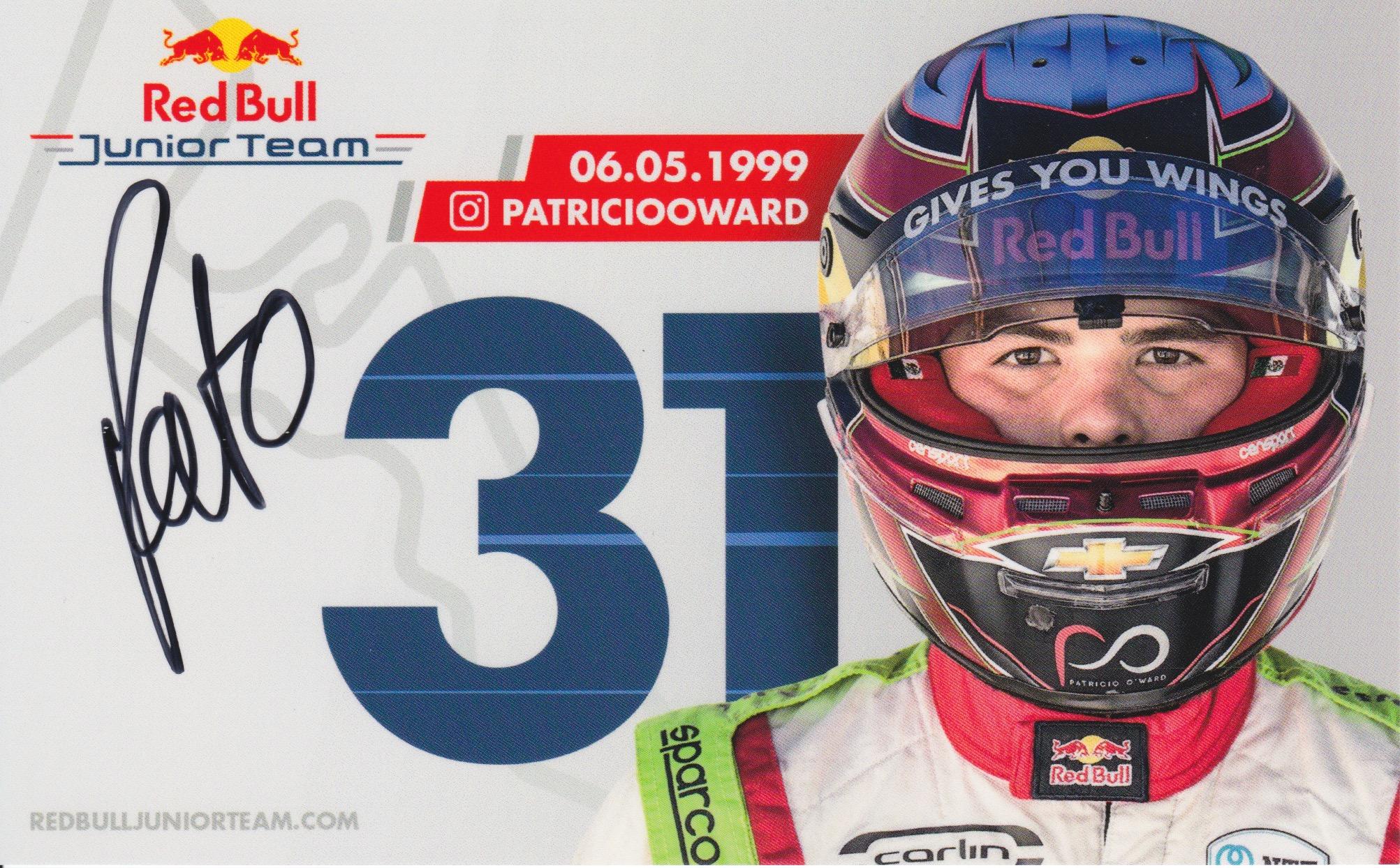 Patricio O'Ward Red Bull Junior Team 2019 Card