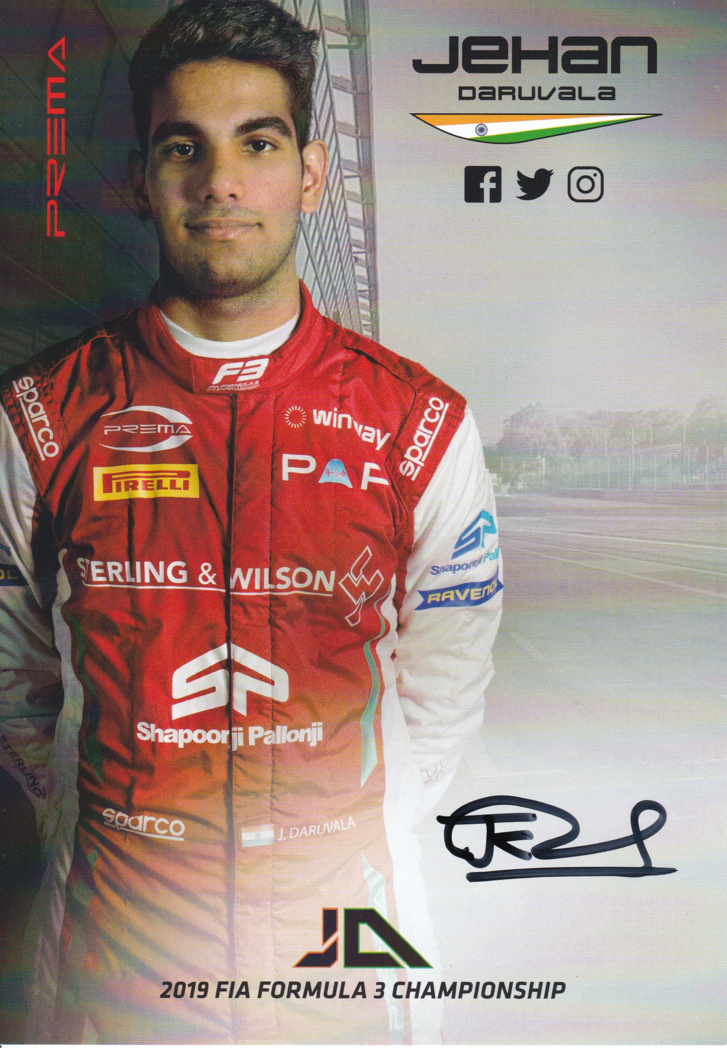 Jehan Daruvala Prema Powerteam 2019