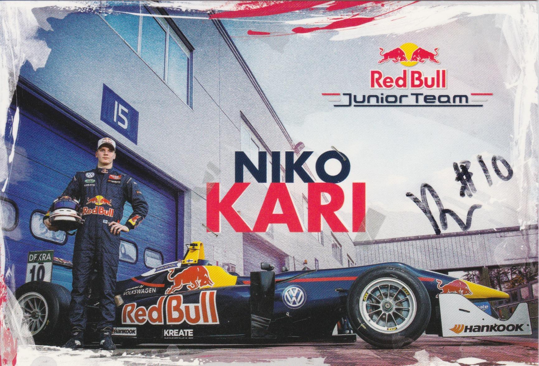 Niko Kari Red Bull Junior Team 2016