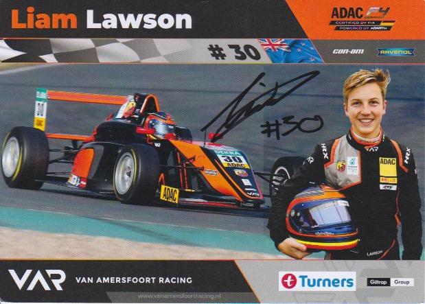 Liam Lawson VAR 2018 Kaart