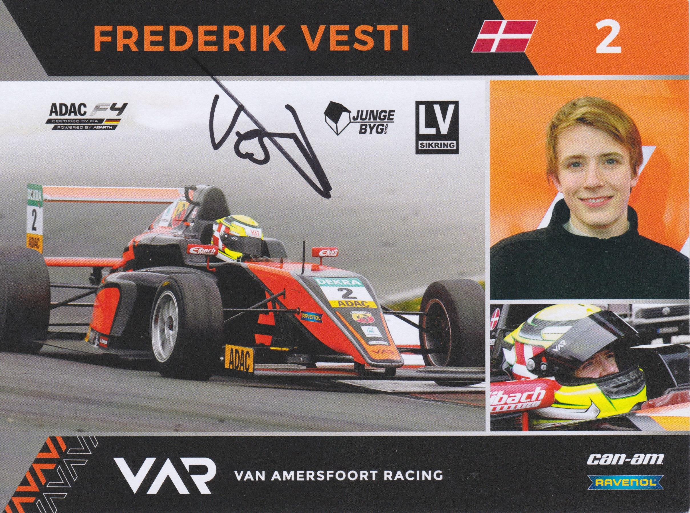 Frederik Vesti 2017 Van Amersfoort Racing