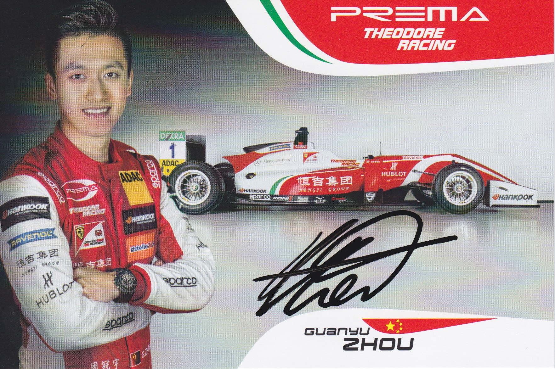Guanyu Zhou Prema Powerteam 2018