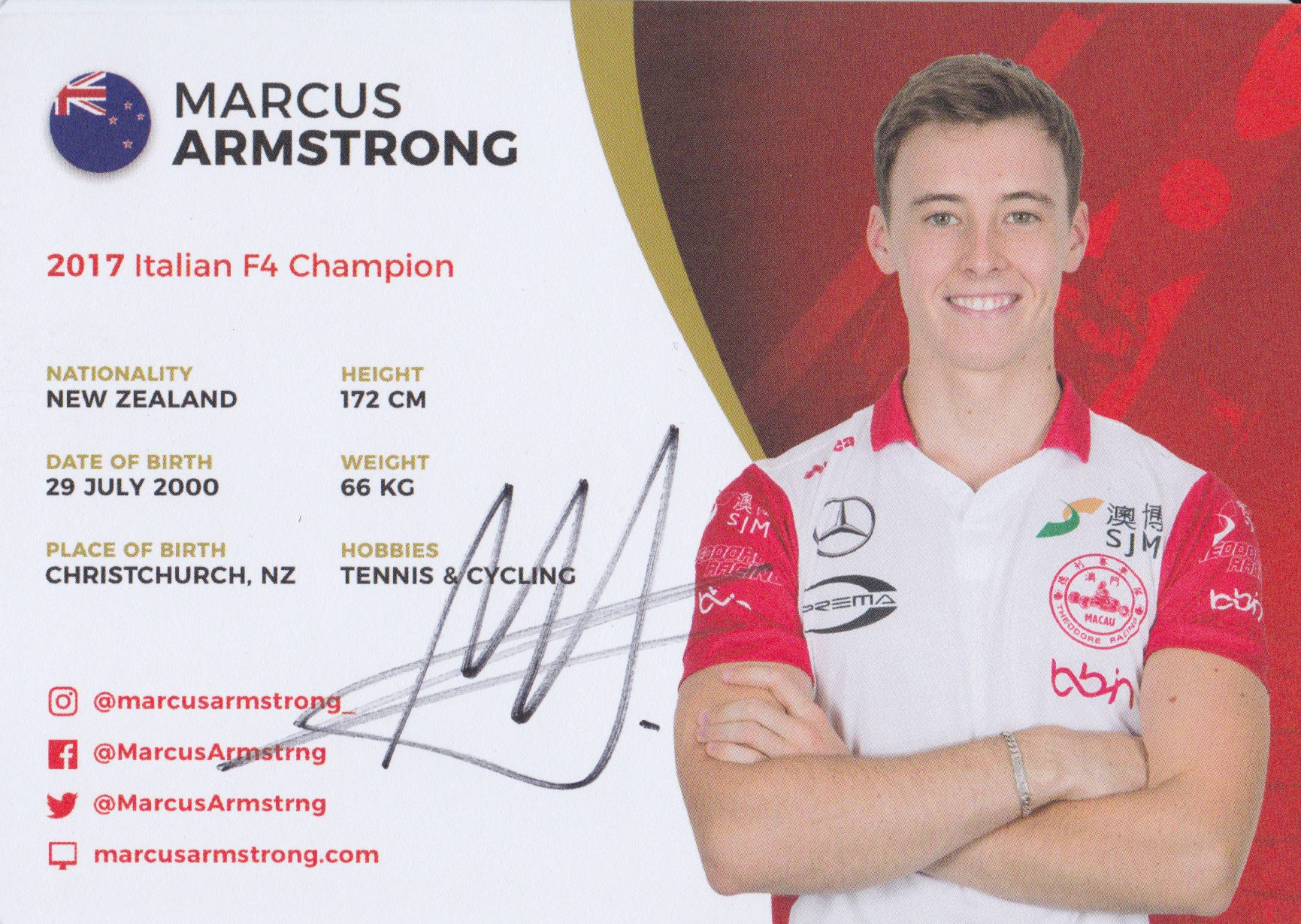 Marcus Armstrong Theodore Racing 2018