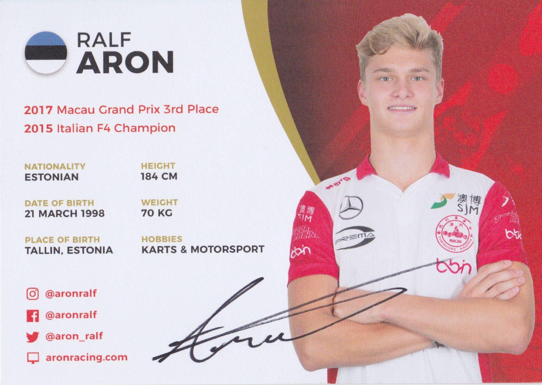 Ralf Aron Theodore Racing 2018