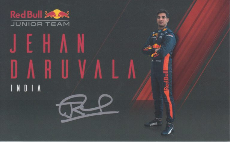 Jehan Daruvala Red Bull Junior Team 2020
