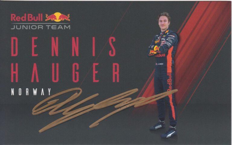 Dennis Hauger Red Bull Junior Team 2020
