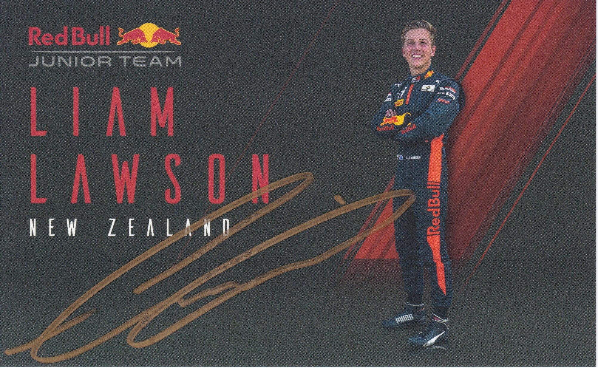 Liam Lawson Red Bull Junior Team 2020
