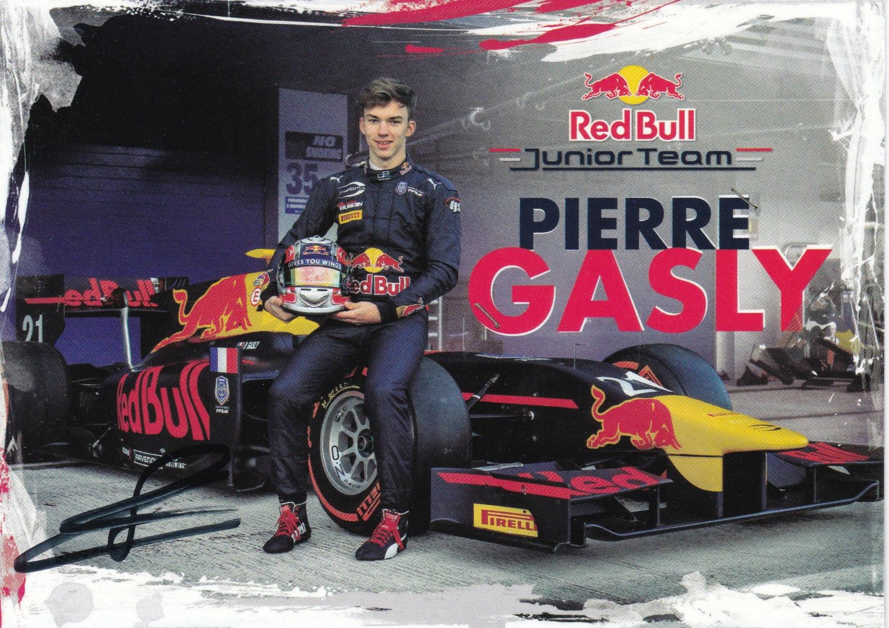 Pierre Gasly Red Bull Junior Team 2016