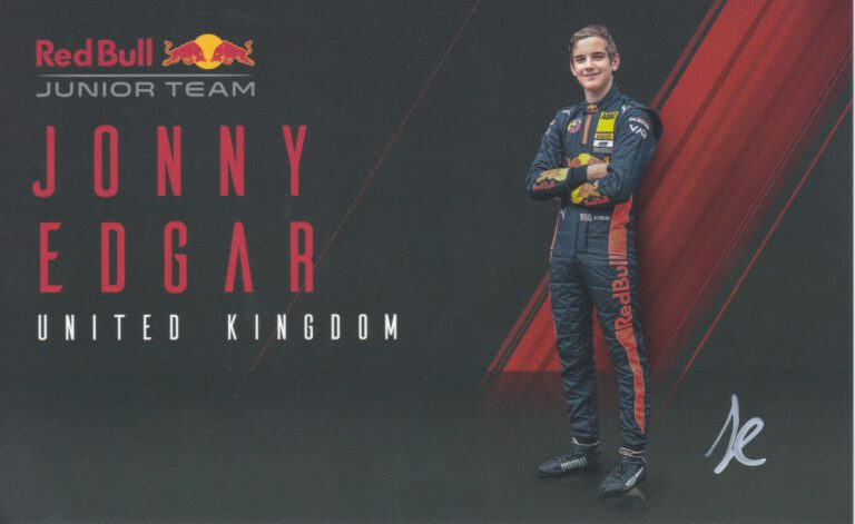 Jonny Edgar Red Bull Junior Team 2020