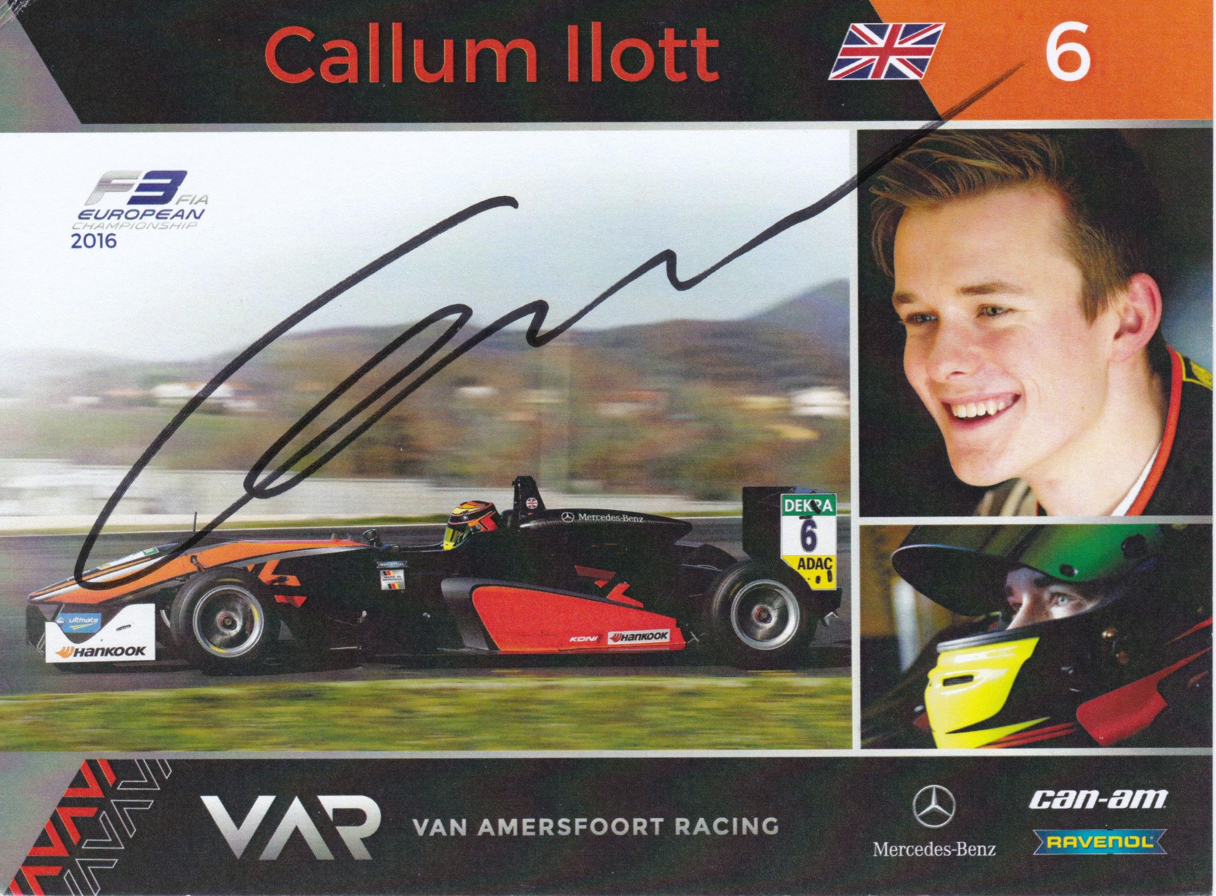 Callum Ilott Van Amersfoort Racing 2016