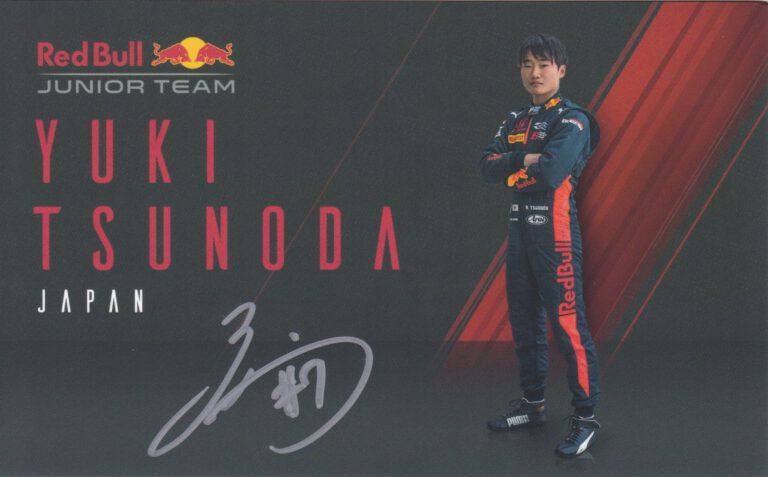 Yuki Tsunoda Red Bull Junior Team 2020