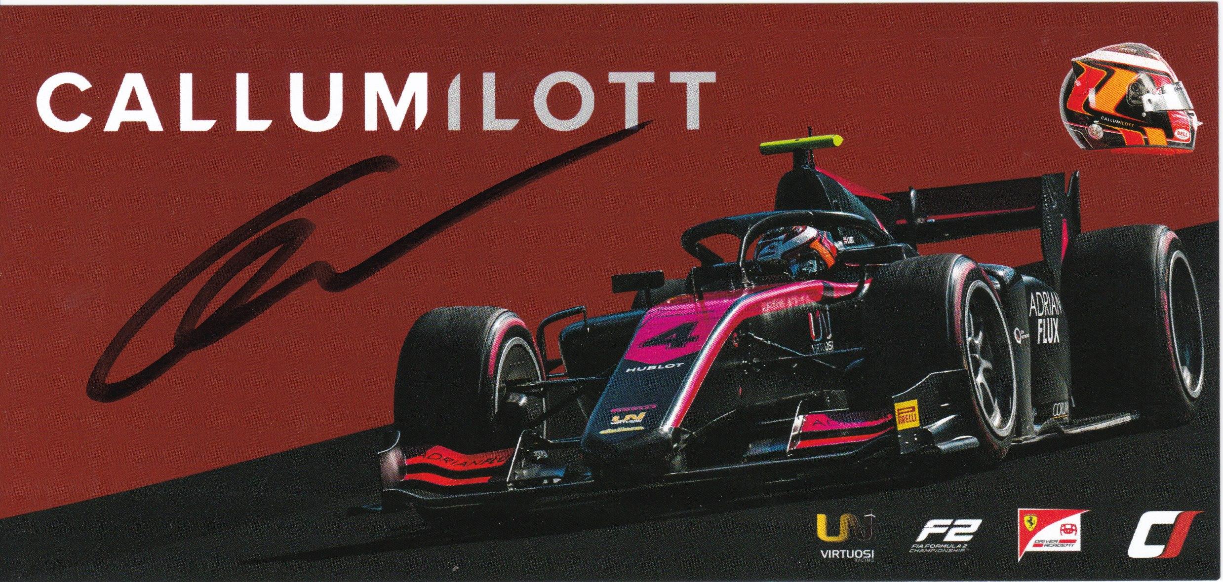 Callum Ilott Virtuosi Racing 2020