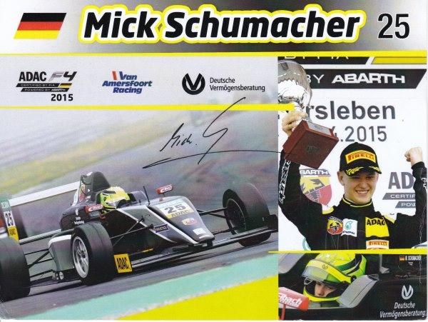 Mick Schumacher Van Amersfoort Racing 2015